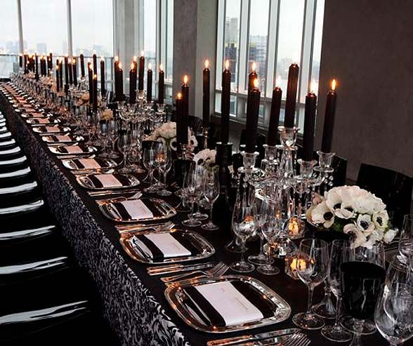 Linens we love intertwined events for Silver centerpieces for dining table