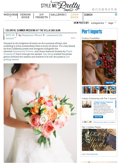 Intertwined Events_Lovebirds Featured In Style Me Pretty