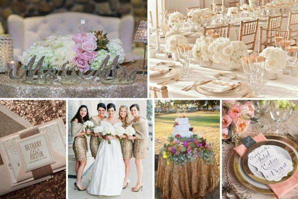 Wedding Trends Rose Gold Inspiration Intertwined Events